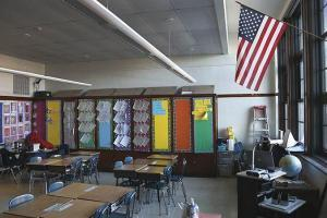 Школьный класс на фотографии. В школе Джорджии вводят физические наказания для учащихся