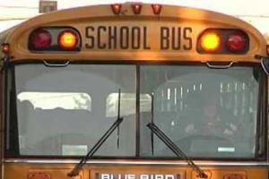 В начальной школе в юго-западном Вашингтоне вспышка ветрянки. На фото один из школьных автобусов