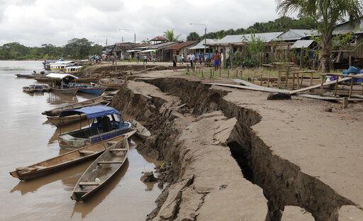 Мощное землетрясение произошло в Перу. Толчки ощущались в столице. На фотографии последствия землетрясения