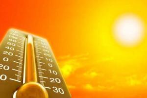 Портленде на этой неделе ожидается рекордно высокая температура. На фото термометр на солнце