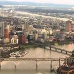 Исследование показывает, что все больше миллениалов переезжает в Портленд. На фотографии вид города