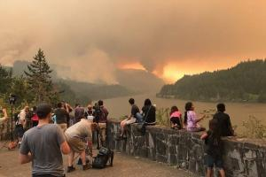 Пожар в Eagle Creek. Два года спустя. На фото кадры пожара
