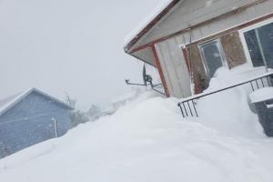 Монтану замело не по сезону глубоким снегом. На фото последствия снегопада