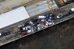 Масштабное ДТП в Виргинии: столкнулись 69 автомобилей, десятки пострадавших. На фотографии место происшествия