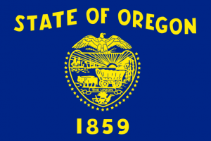 На фотографии флаг Орегона